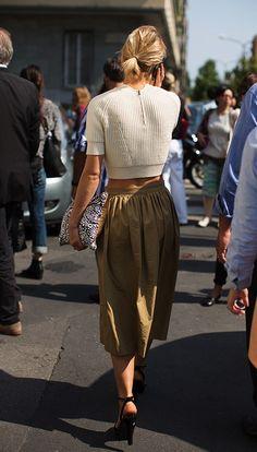 knit top + skirt.