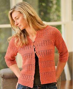 Summer Crochet Cardigan, de Therese Chynoweth. http://www.ravelry.com/patterns/library/summer-crochet-cardigan