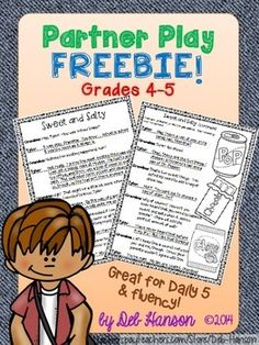 Free Partner Play for grades 4-5 (Focus on Fluency!)