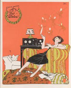 december, cornel widow, widow magazin, poster, magazines, decemb 1923, art deco, illustr, art nouveau