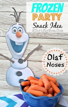 Frozen Party Ideas, Disney Frozen food, Frozen Party, Olaf Noses #Frozen, #Disney
