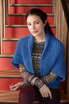 Easy Crochet Bolero - free pattern from Lion Brand