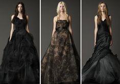 geek, dress collection, vera wang, idea, fashion, black weddings, wang black, gown, black wedding dresses
