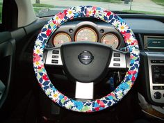 Vera Bradley Steering Wheel Cover. $24.00, via Etsy.