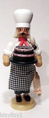 8 German Wooden Confectioner Baker Sieffener Nussknacker Haus Smoker Never Lit | eBay