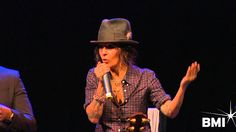 """Linda Perry on writing """"Get the Party Started"""" at the 2014 HIWTS pre-GRA..."""