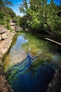 Jacobs Well in Wimberly Texas. One of the longest underwater spring cavern in the US