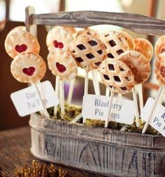 Pie pops are a great bite size treat.