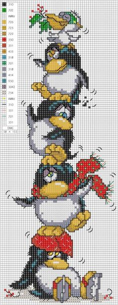 1236846_561939173869783_632384404_n.jpg 372×960 pixels bookmarks, craft, cross stitching ideas, embroidery patterns, crossstitch, penguin, cross stitch patterns, cross stitch christmas, cross stitches