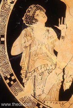 Gaea, goddess of the earth | Greek vase, Athenian red figure kylix