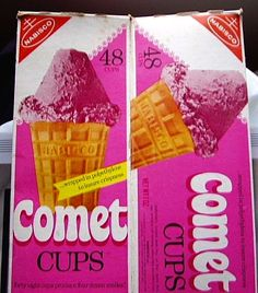 70s foods, cups, comet cup, 1970s, cup food, spacethem food, outer spacethem, nabisco comet