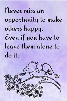 Make someone happy..