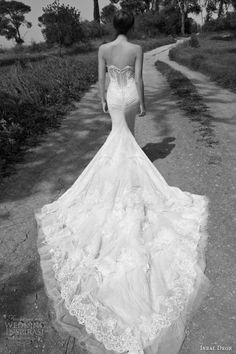 inbal dror 2013 bridal strapless wedding dress lace corset bodice train Lace Wedding Gowns, Wedding Dressses, Bridal Collection, Strapless Wedding Dresses, Inbal Dror, Romantic Weddings, Dream Wedding, Pari 2013, Wedding Bells