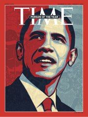 "2008: Barack Obama  A look at Time magazine's Person of the Year covers over the past decade reveals an eclectic mix reflecting the temper of the times: Choices have ranged from presidents to whistleblowers to ""You.""    In 2008, Time's editors chose the man who had just won a historic election: Barack Obama."