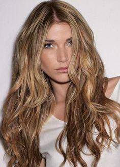 Long wavy light brown hair