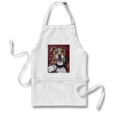 Geisha pitbull wine apron