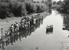 Marion Post Wolcott (American, 1910-1990) - Baptism in Triplett Creek, Rowan County, Kentucky      1940.