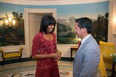 Michelle Obama, FLOTUS Layered Hair 90 Degree Haircut