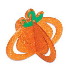 Pumpkin 3-D Glitter Topper