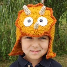 Triceratops Hat pattern $5.95