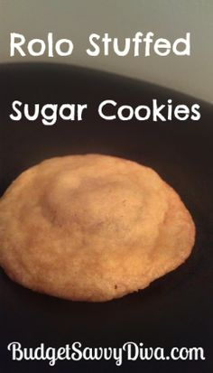 Rolo Stuffed Sugar Cookie Recipe with premade sugar cookie dough