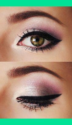 eye makeup, eyeshadow, cat eyes, color, beauti, hazel eyes, green eyes, wedding makeup, eye liner