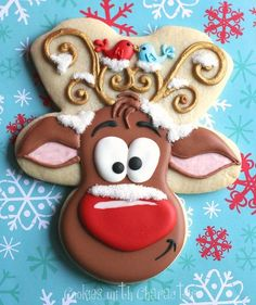 Whimsical Reindeer Cookies with Cookies with Character {Guest Post} reindeer cookies, cake, christma cooki, christmas, belle, cookie cutters, wood crafts, gingerbread man, decor cooki