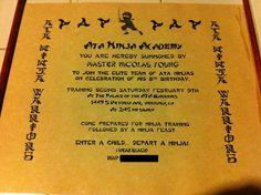 #LEGO Ninjago party invitation