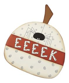 Take a look at this 'Eeeek' Spider Pumpkin Metal Sign by Collins on #zulily today!