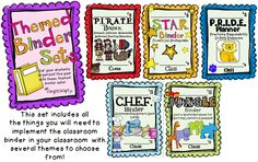 Ginger Snaps: Getting Your Students Organized with Themed Binders - Finished product coming soon!!