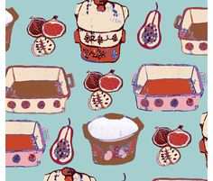 Pyrextropical fabric by angel_cakes on Spoonflower - custom fabric