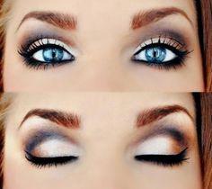 Blues eyes pop #eyeliner a little bit lighter, more natural