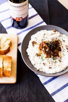 Cabernet Sauvignon Caramelized Onion Dip
