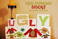 wood block, famili, christmas sweaters, ugli christma, christma sweater, parti idea, christma parti, sweater parti, ugli sweater