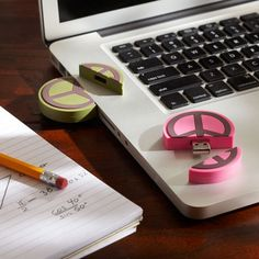 Peace sign USB memory drive. Regular price was $29, on clearance for $5.