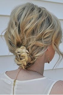 Twisted Low Bun. #hair #bun #braids