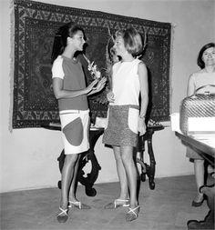 Countess Consuelo Crespi with Princess Luciana Pignatelli -1966