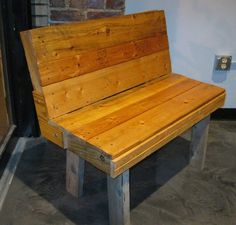 Palletable Bench by Sonnerdesigns on Etsy, $200.00