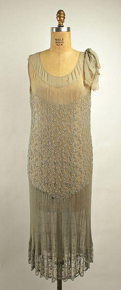 Silk evening dress, c. 1926