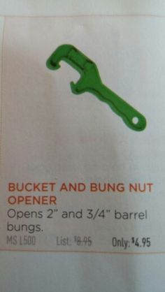Grab your bung nut.