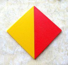 Plastic Geometric Shapes  Primary Colors by 2VintageGypsies, $8.00