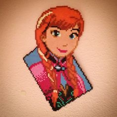 Princess Anna - Frozen hama perler beads by Lauro Espinosa Val