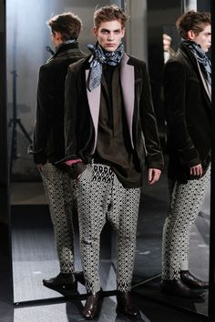 Not a fan of poopy pants but love the upper part of the Look ! Haider Ackermann Fall/Winter 2014 | Paris Fashion Week
