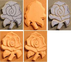Wood Carving patterns free 2d Rose