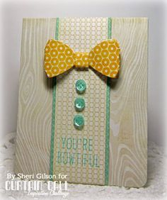 Paper Crafty's Creations : Curtain Call Inspiration Challenge - Bow Tie