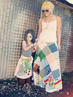 Mommy & Me Wrap Skirts @ etsy