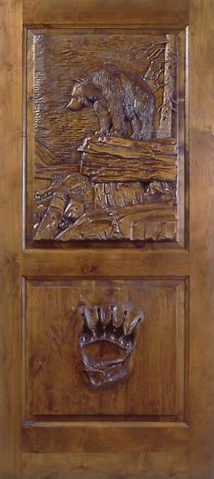 Hand carved one-of-a-kind door
