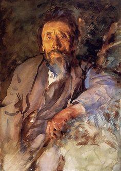 A watercolor portrait by Sargent