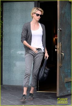 Charlize Theron Studded Oxfords