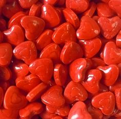 Candy Red Hearts